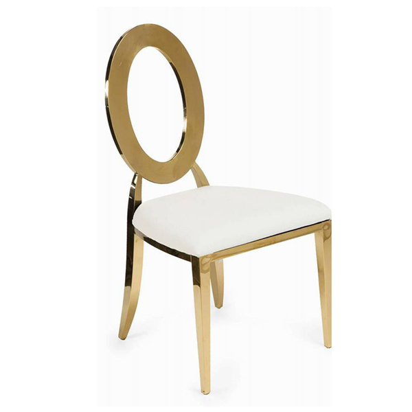 Padded Gold Chairs for Sale